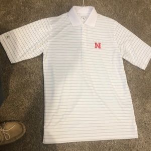 Men's polo with Nebraska logo